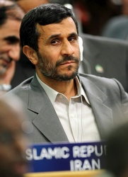 Iranian President Mahmoud Ahmadinejad attends the World Food Security Summit in Rome June 3. (CNS/Reuters)