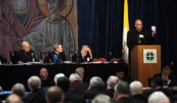 A scene from the first day of the U.S. bishops' meeting in Orlando. (CNS/Andrew Sullivan)