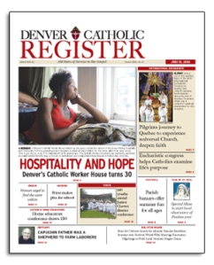 Front page of June 18 Denver Catholic Register.