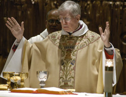 Msgr. Robert Stern celebrated Mass in New York last month to mark the 50th anniversary of his ordination. (Photo courtesy Catholic Near East Welfare Association/Maria R. Bastone)