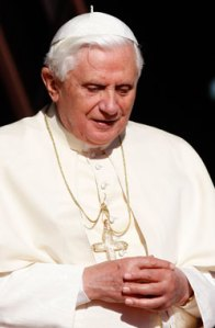 Pope Benedict XVI pauses during a thank-you gathering with World Youth Day volunteers in Sydney, Australia, July 21. Earlier in the morning, the pope met with clerical sex abuse victims at St. Mary's Cathedral in Sydney. (CNS photo/Paul Haring)
