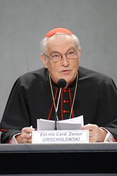 Cardinal Zenon Grocholewski, head of the Congregation for Catholic Education. (CNS photo/Giancarlo Giuliani, Catholic Press Photo)