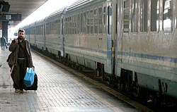 A Franciscan Friar at Rome's Termini Train Station (CNS photo/Max Rossi, Reuters)