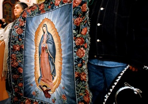 An image of Our Lady of Guadalupe is displayed during a Mass in 2007 at Our Lady of Mount Carmel Church in Rochester, N.Y. (CNS photo/Mike Crupi, Catholic Courier)