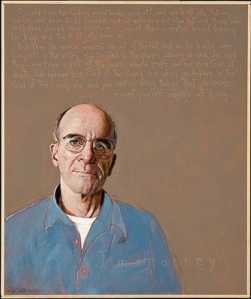 Justice advocate Jim Harney as portrayed by Rob Shetterly. (CNS/Rob Shetterly)