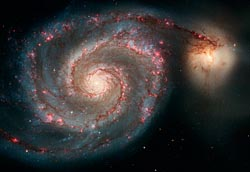 WHIRLPOOL GALAXY AND COMPANION GALAXY