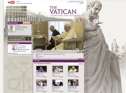 The Vatican's YouTube channel features news clips of the pope and major Vatican events. (CNS)