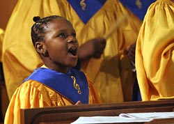 GIRL SINGS DURING MASS FOR YOUNG CATHOLICS OF AFRICAN ANCESTRY I