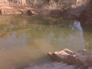 "What Jordan calls the ""Baptism Site"" at the Jordan River"