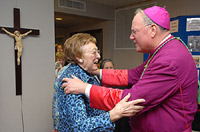Ethel Gintoft with Archbishop Timothy M. Dolan. (Sam Lucero/The Compass)