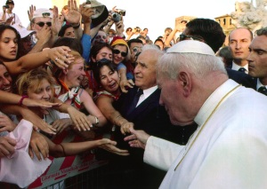 Camillo Cibin and Pope John Paul II