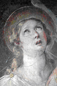 Fresco (detail) of Santa Susanna