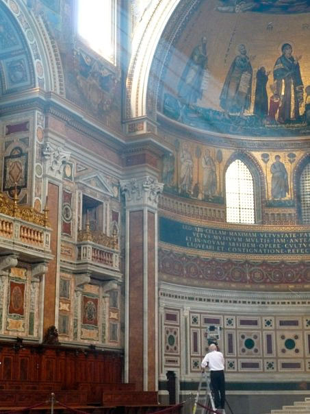 Paul Wilson in the apse of St. John Lateran