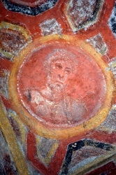 Image of St. Peter in the Catacombs of St. Thecla. (Pontifical Commission for Sacred Archaeology)