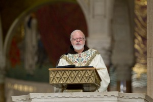 Boston Cardinal Sean P. O'Malley delivers the homily during the opening Mass of the National Prayer Vigil for Life last night. (CNS photo/Nancy Phelan Wiechec)