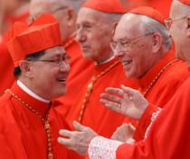Cardinal Tagle after being made a cardinal last November. (CNS/Paul Haring)