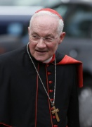 Cardinal  Ouellet arrives for a general congregation meeting March 8. (CNS/Paul Haring)