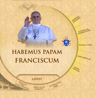 Screenshot of the Vatican web site's homepage. In 2005, the Vatican internet office created a special email address for the new pope, but there won't be one this time.