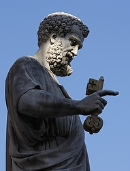 St. Peter holding the keys. (CNS/Paul Haring)