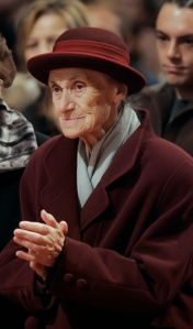 Franziska Jagerstatter at her husband's beatification in 2007. (CNS photo/Reuters)
