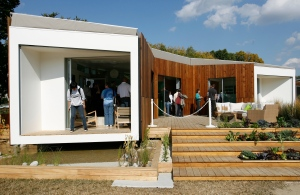 Solar house built by Santa Clara University students.(CNS photo)