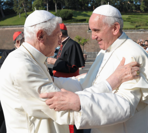 Retired Pope Benedict and Pope Francis