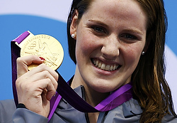 U.S. simmer Missy Franklin at the 2012 Olympics in London. (CNS photo/Reuters)