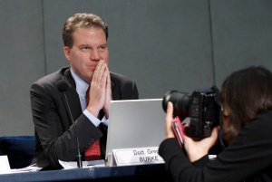 GREG BURKE, MEDIA ADVISER TO VATICAN, PARTICIPATES IN PRESS CONFERENCE ABOUT POPE'S PRESENCE ON TWITTER