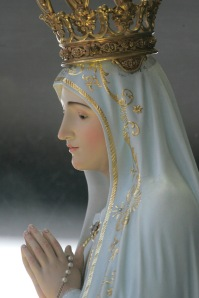 STATUE OF OUR LADY OF FATIMA AT MARIAN SHRINE IN PORTUGAL