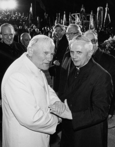 POPE JOHN PAUL II MEETS THEN-CARDINAL RATZINGER IN 1980