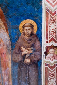 St. Francis of Assisi from detail of Cimabue fresco
