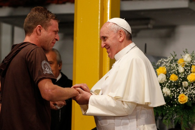 Pope visits St. Francis of Assisi Hospital in Rio de Janeiro