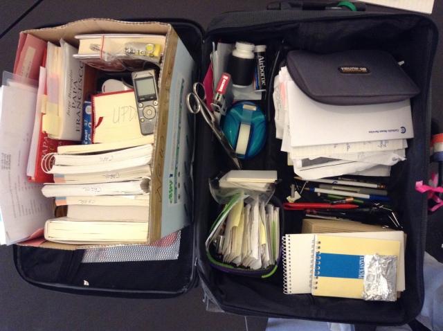 suitcase contents