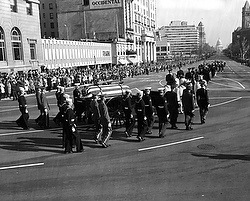 Kennedy's funeral procession (CNS photo/U.Kennedy Presidential Library) (Nov. 21, 2013)