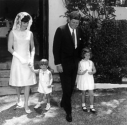 President Kennedy and his family Easter Sunday 1963 (CNS photo/Reuters)