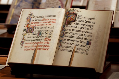 COPY OF BORGIANUS LATINUS, A MISSAL FOR CHRISTMAS, SEEN IN EXHIBIT AT VATICAN IN 2010