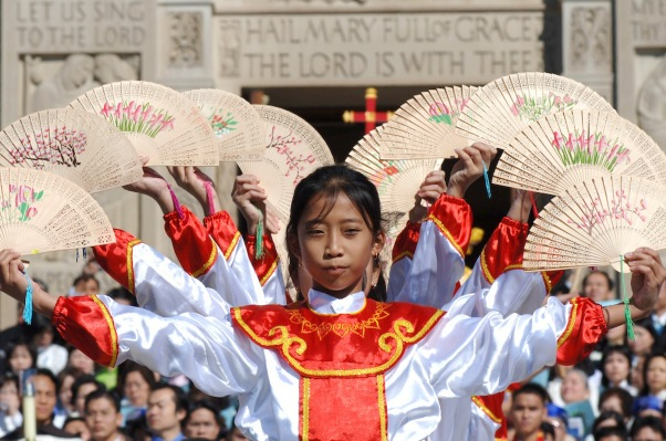 GIRL SEEN DURING DEDICATION OF VIETNAMESE CHAPEL IN WASHINGTON