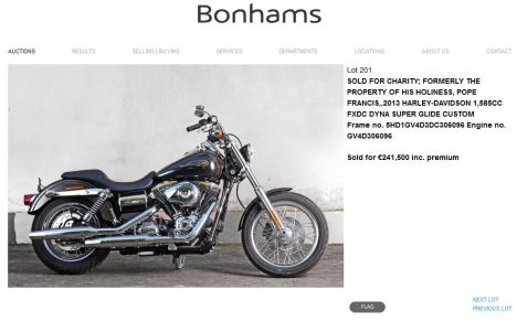 bonhams bike sold price