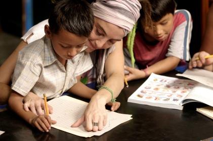 CHILD RECEIVES HELP AT CENTER IN PERU