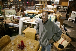 Michael Gordon, warehouse and procurement manager for a furniture bank run by Caritas, an agency providing services to homeless people in Richmond, Va., is shown in January. The program is one of thousands started  during the last 50 years in the country's renewed push to end poverty. (CNS/Jay Paul)