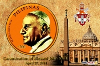 One of two souvenir sheets from Philippines Post depicts St. John XXIII.