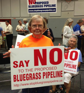 Loretto Sister Ceciliana Skees was among several members of the Loretto Community in Kentucky who opposed the Bluegrass Pipeline. (CNS/courtesy Loretto Community)