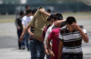 Guatemalan migrants deported from U.S. arrive at airport in Guatemala City. (CNS photo/Reuters)