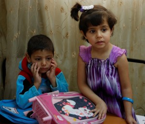 Syrian refugee children attend church-backed preschool program in Jordan. (CNS/Barb Fraze)