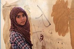 A Syrian girl in Jordan's Zaatari refugee camp. (CNS/Dale Gavlak)
