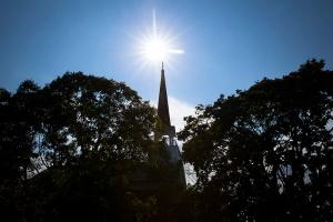 St. Ignatius Church in Port Tobbaco, Md., in the Washington Archdiocese. (CNS photo/Tyler Orsburn)