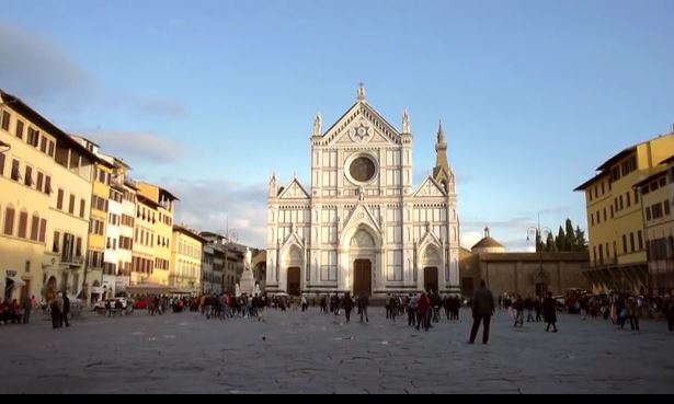 The Basilica of Santa Croce in Florence, Italy. screengrab of video by Opera di Santa Croce.