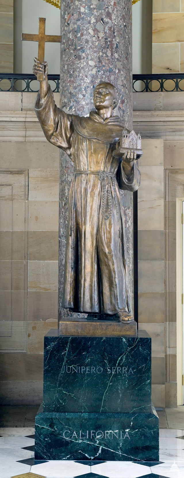 Statue of Blessed Junipero Serra at National Statuary Hall (Photo from Architect of the Capitol)