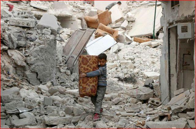 syria rubble