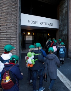 A school group enters the Vatican Museums. (CNS/Paul Haring)